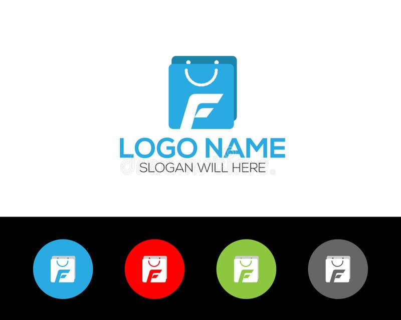 F Letter Logo Template online store vectors illustration. This is very easy to use. U ca Use as your won simply royalty free illustration