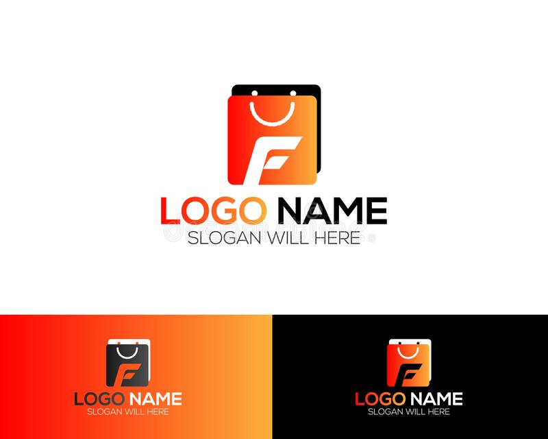 F Letter Logo Template online store vectors illustration. This is very easy to use. U ca Use as your won simply vector illustration