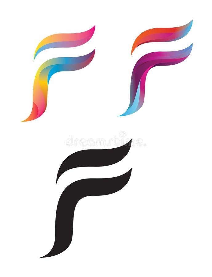 F letter logos stock image