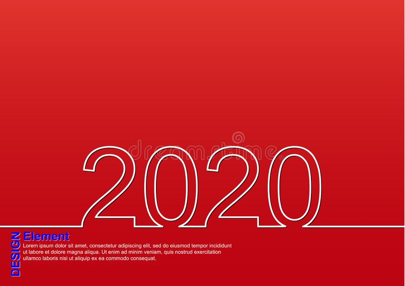 F?licitations la nouvelle ann?e 2020 illustration stock