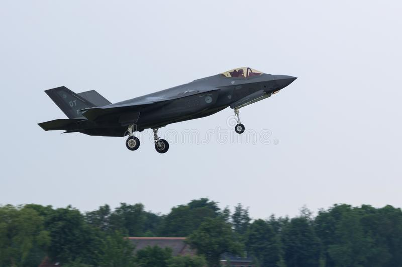 F-35 Lighting II of the RNLAF royalty free stock images