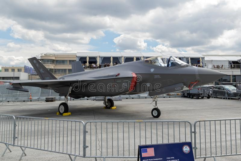 F-35 Lightning II stealth fighter jet royalty free stock images