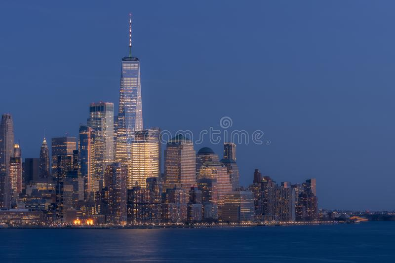F?ll ned manhattan New York royaltyfri foto