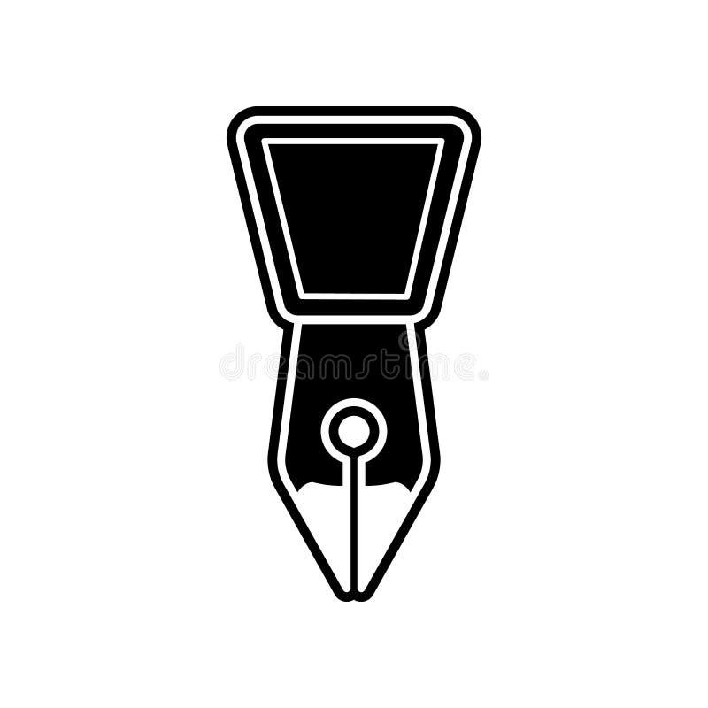 F?llfederhalterspitzenikone Element der Bildung f?r bewegliches Konzept und Netz apps Ikone Glyph, flache Ikone f?r Websiteentwur lizenzfreie abbildung