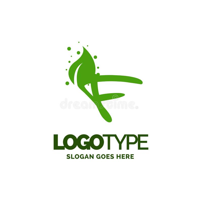 F logo with Leaf Element. Nature Leaf logo designs, Simple leaf. Logo symbol. Natural, eco food. Organic food badges in vector. Vector logos. Natural logos with stock illustration
