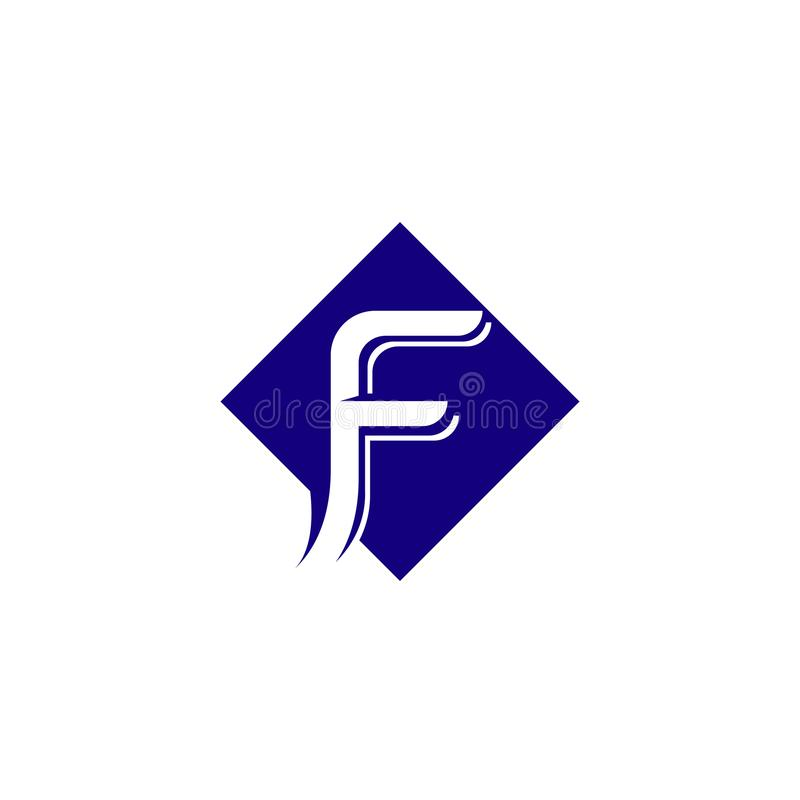 F logo and symbols template vector stock illustration