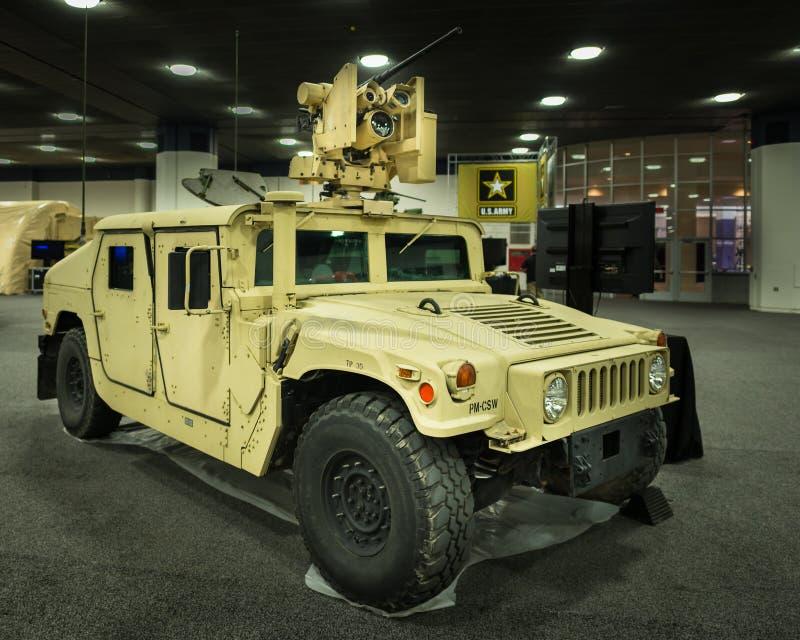 2016: F.m. allmän HMMWV (Humvee) arkivbilder