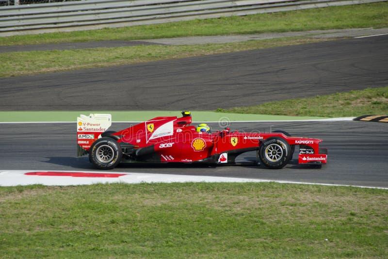 F. Massa w Monza 2012 praktyka dzień. zdjęcia stock