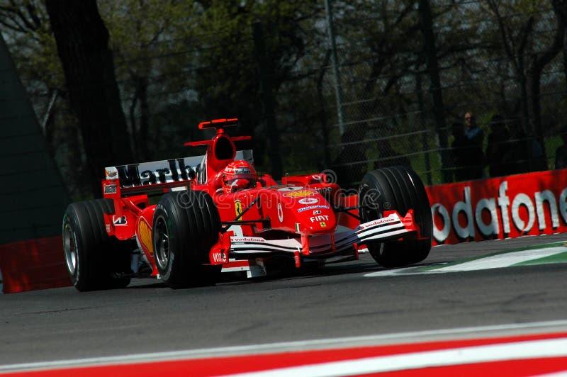 F1 2005 - Michael Schumacher Ferrari stockfotografie