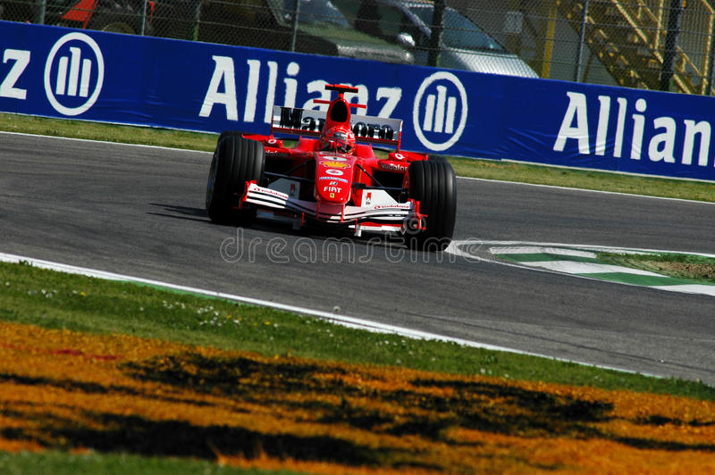 F1 2005 - Michael Schumacher Ferrari stockbild