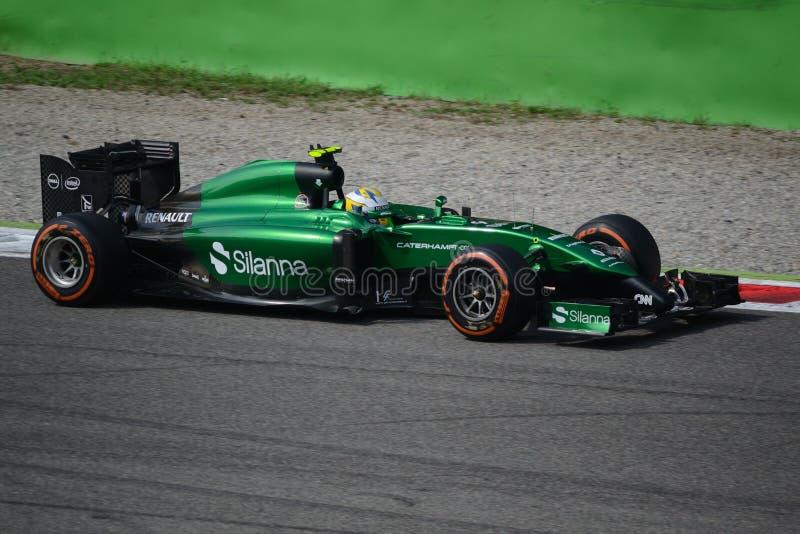 2014 F1 Monza Caterham CT05 - Marcus Ericsson image stock