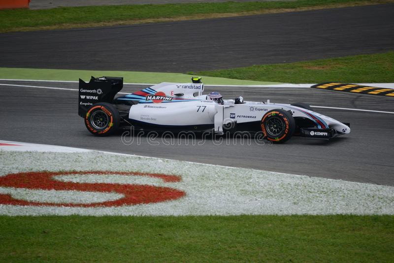 2014 F1 Monza Williams FW36 - Valtteri Bottas arkivfoto