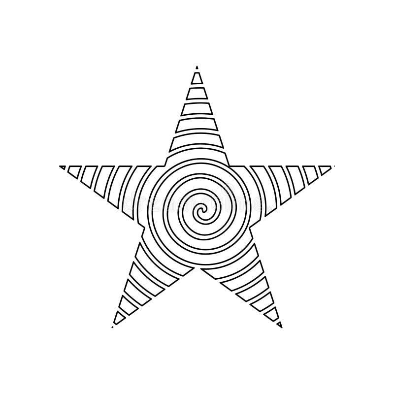 F?nf-spitze Sternikone Element von Sternen f?r bewegliches Konzept und Netz Appsikone Entwurf, d?nne Linie Ikone f?r Websiteentwu lizenzfreie abbildung