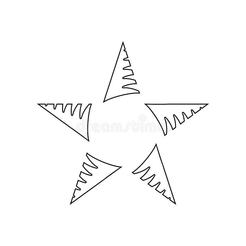 F?nf-spitze Sternikone Element von Sternen f?r bewegliches Konzept und Netz Appsikone Entwurf, d?nne Linie Ikone f?r Websiteentwu vektor abbildung