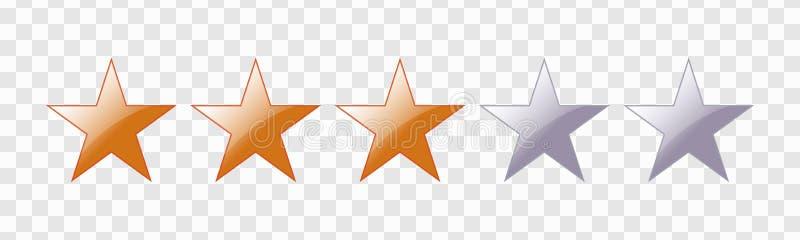 F?nf Stern-Bewertung lizenzfreie abbildung