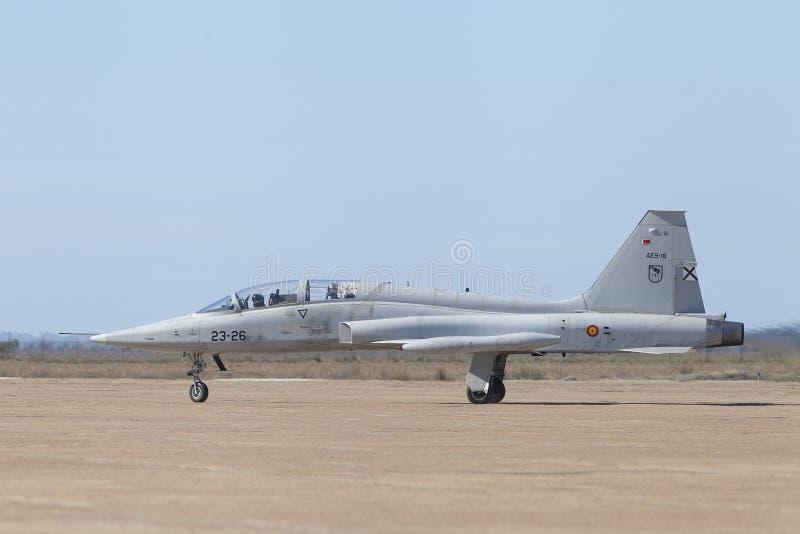F5 Northrop wojownik w Hiszpania fotografia stock