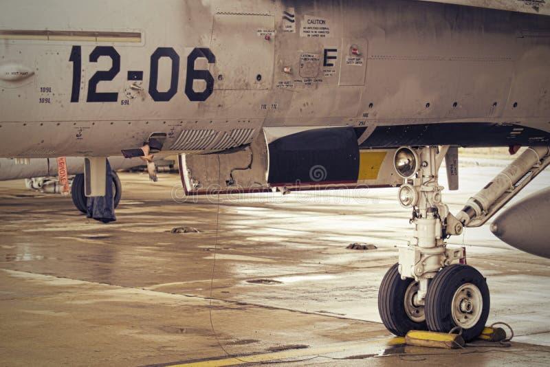 F18 nosewheel στοκ εικόνα με δικαίωμα ελεύθερης χρήσης