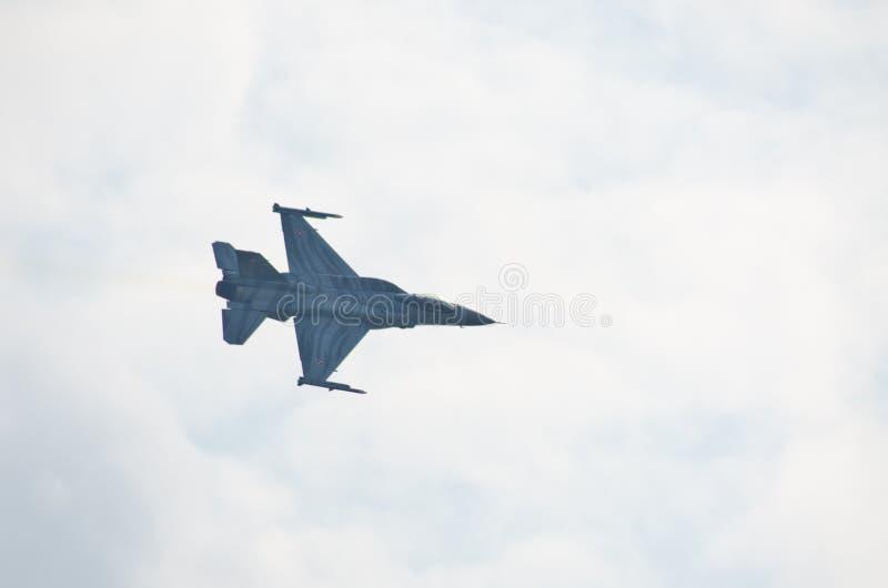 F-16 op Radom Airshow, Polen royalty-vrije stock afbeelding