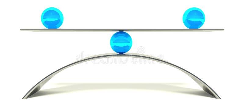 för bollbegrepp för jämvikt 3d equilibrium royaltyfri illustrationer