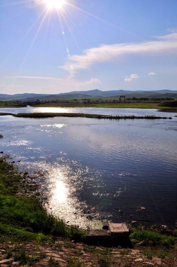 för flöde flod peacefully royaltyfria foton