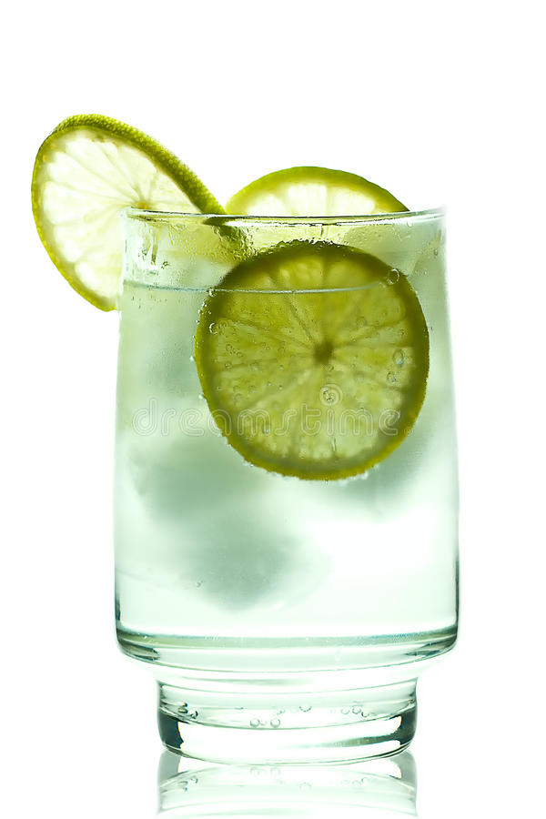 för islimefrukt för gin glass tonic för skiva fotografering för bildbyråer