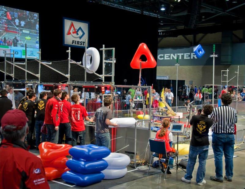 för marschrobotics för konkurrens 17 seattle teen wa arkivbilder
