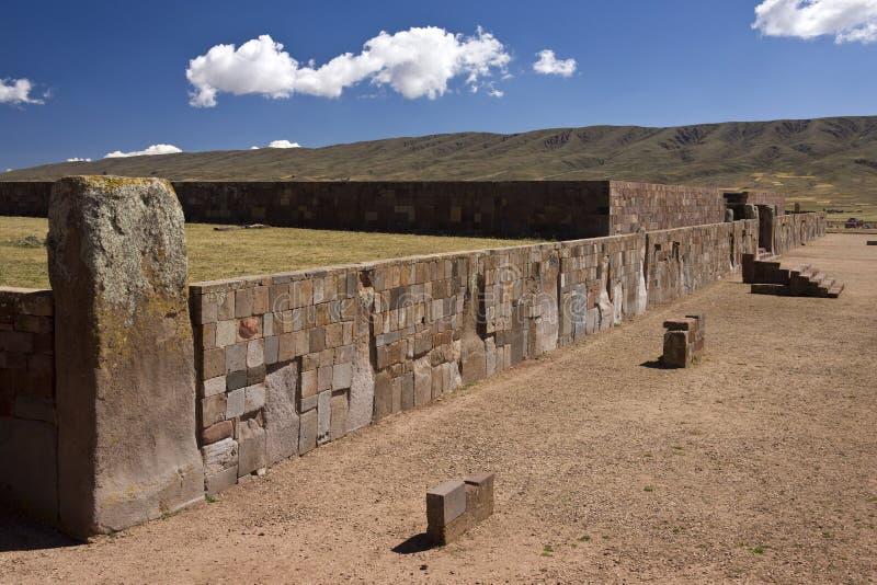 för paz för bolivia incala taihuanaco pre lokal royaltyfri bild