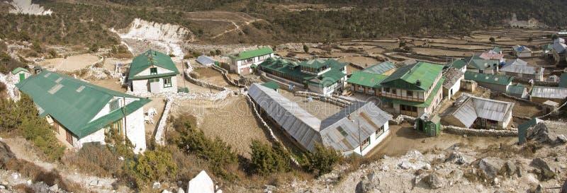 by för region för everest bergpangboche royaltyfri fotografi