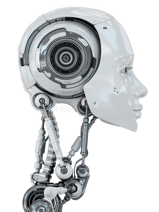 försiktig robotic kvinna royaltyfria bilder