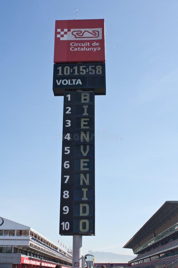 F1 Paddock Barcelona stock photo