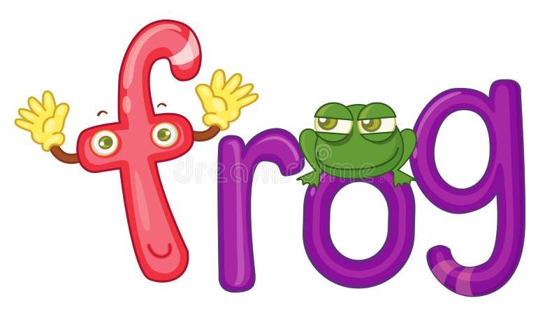 F para a râ ilustração royalty free