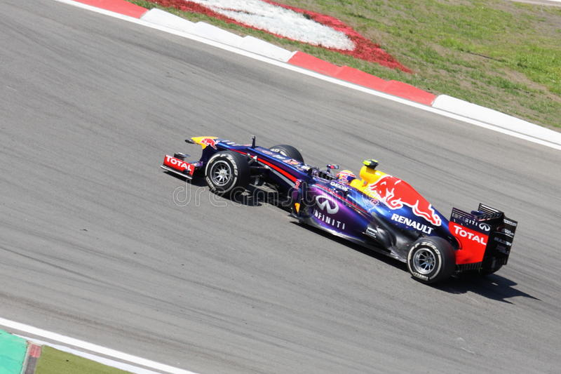 F1 Photo - Formula One Car Red Bull : Mark Webber. F1 Photo - Formula One Car Red Bull with driver Mark Webber stock photo