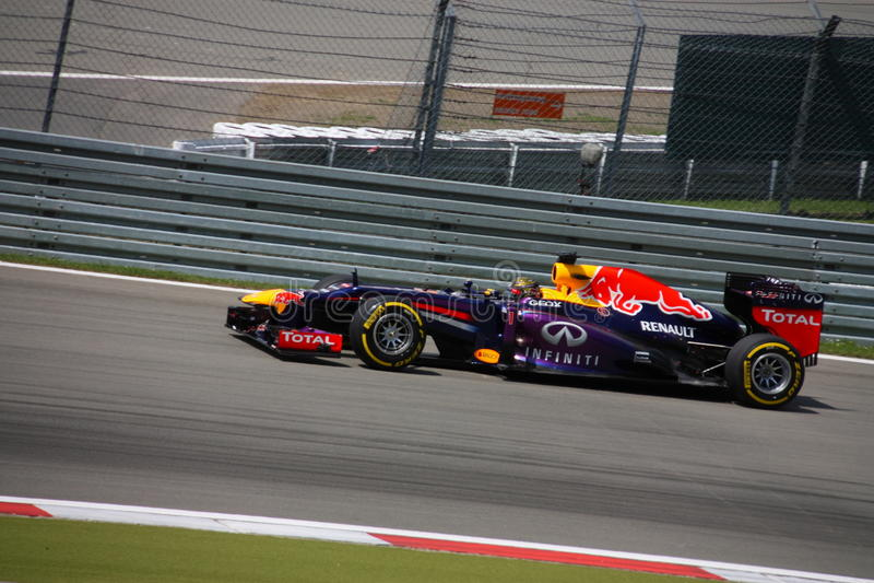 F1 photo - Formule 1 Red Bull : Sebastian Vettel photographie stock