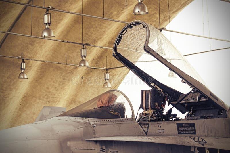 F18 Pilot Cabin stock photo