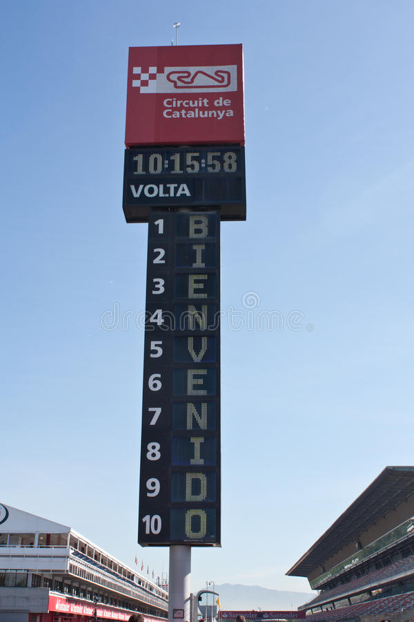 F1 prado Barcelona foto de archivo