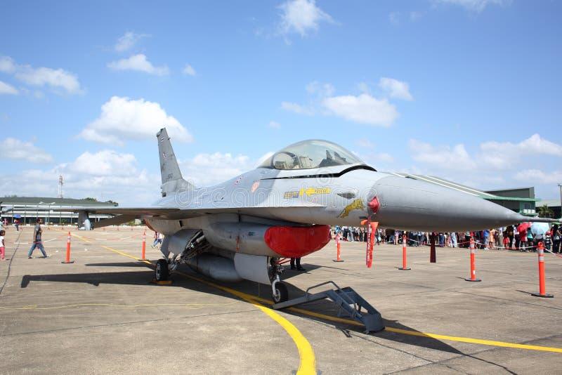 F-16 przedstawienie przy Wing7 bazą powietrzną na Tajlandzkim Children dniu zdjęcia royalty free