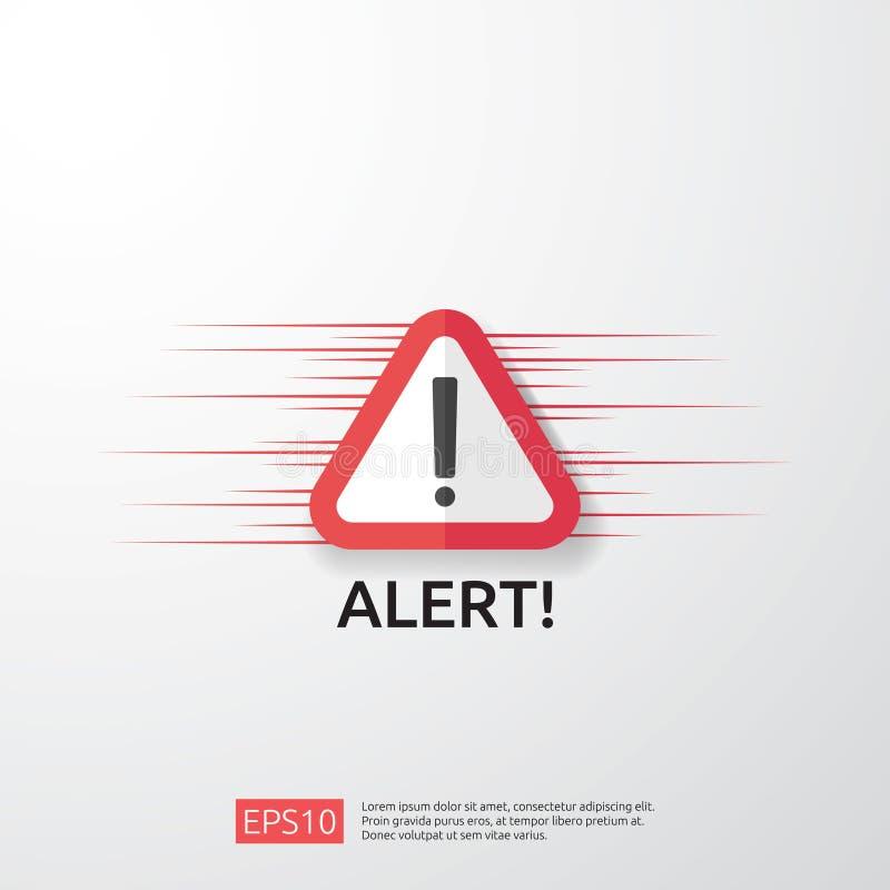 f?r angriparevarning f?r uppm?rksamhet varnande tecken med utropsteckenet akta sig vakenhet av internetfarasymbolet sk?ldlinje sy royaltyfri illustrationer