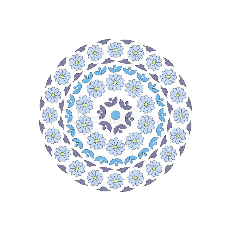 f?r eps-illustration f?r 8 cirkel vektor f?r prydnad vektor illustrationer