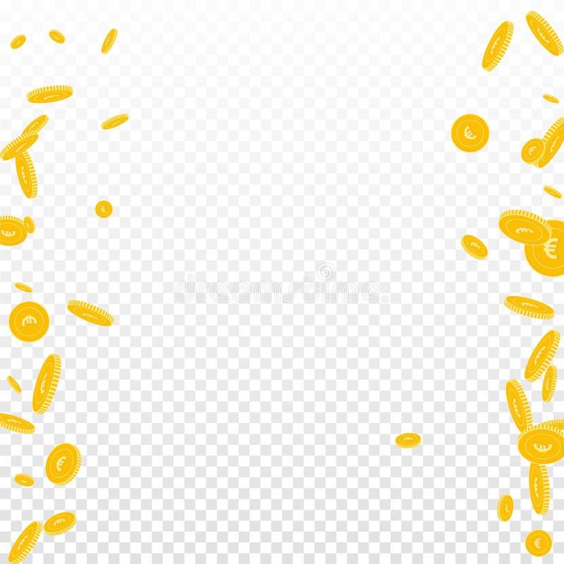 F?r euromynt f?r europeisk union falla Spridd disor vektor illustrationer