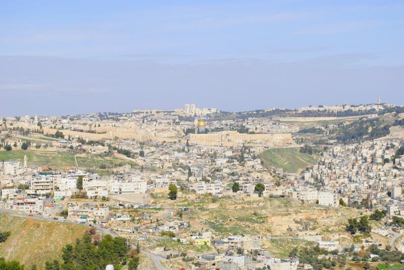 f?r extern gammal v?gg jerusalem f?r stad minaret arkivbilder