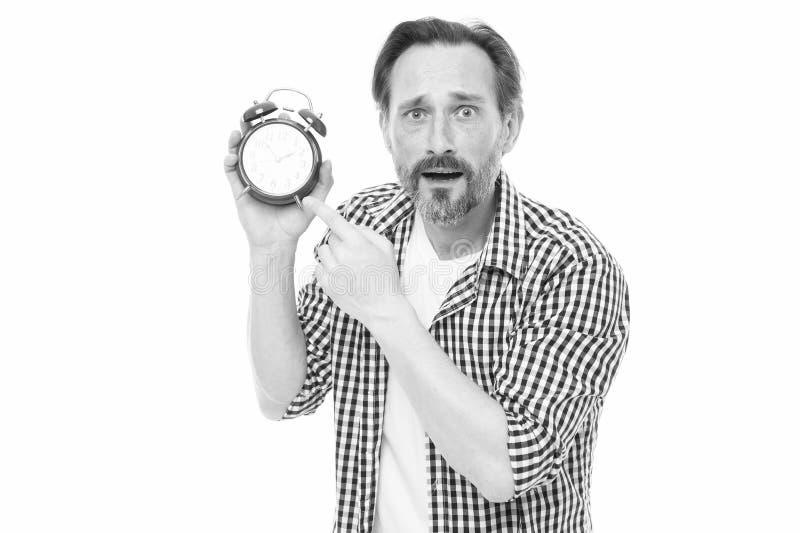 F?r grabbh?ll f?r man sk?ggig mogen ringklocka Tid ledningexpertis Ta kontroll over tid Sj?lvdisciplinbegrepp Hur till fotografering för bildbyråer