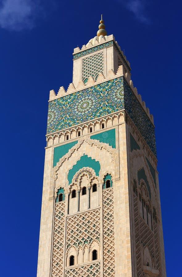 f?r hassan ii morocco f?r casablanca ing?ngsframdel fyrkant mosk? Hassan II moské mot en blå himmel arkivbilder