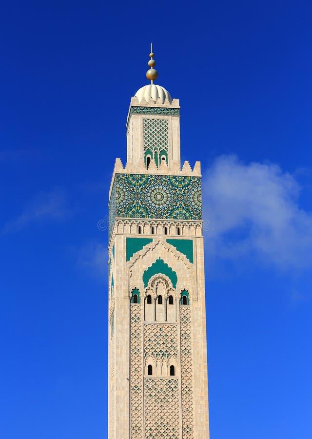 f?r hassan ii morocco f?r casablanca ing?ngsframdel fyrkant mosk? Hassan II moské mot en blå himmel arkivfoton