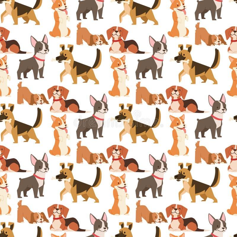 F?r hundkappl?pningtecken f?r valp gullig spela vektor f?r bakgrund f?r modell f?r rolig fullblods- komisk lycklig d?ggdjurs- ave stock illustrationer