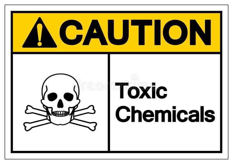 F?r kemikaliesymbol f?r varning giftligt tecken, vektorillustration, isolat p? den vita bakgrundsetiketten EPS10 stock illustrationer