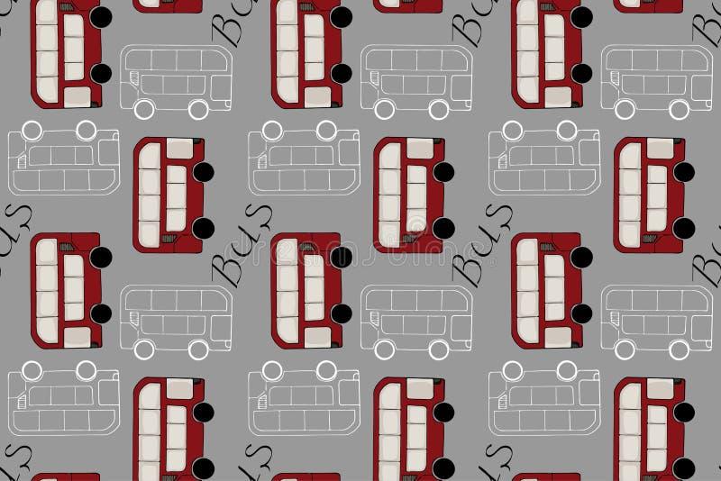 F?r klottertecknad film f?r hand s?ml?s modell f?r utdragna bilar Tapeten eller textilen för behandla som ett barn pojken Transpo royaltyfri illustrationer