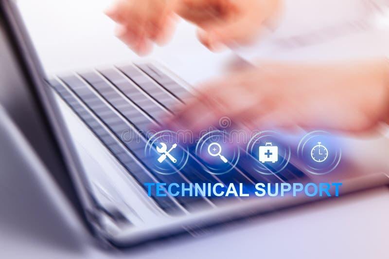F?r kundtj?nstaff?r f?r teknisk service begrepp f?r internet f?r teknologi arkivfoto