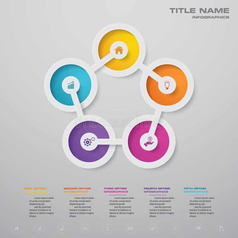 f?r processdiagram f?r 5 moment simple&editable best?ndsdel f?r infographics stock illustrationer