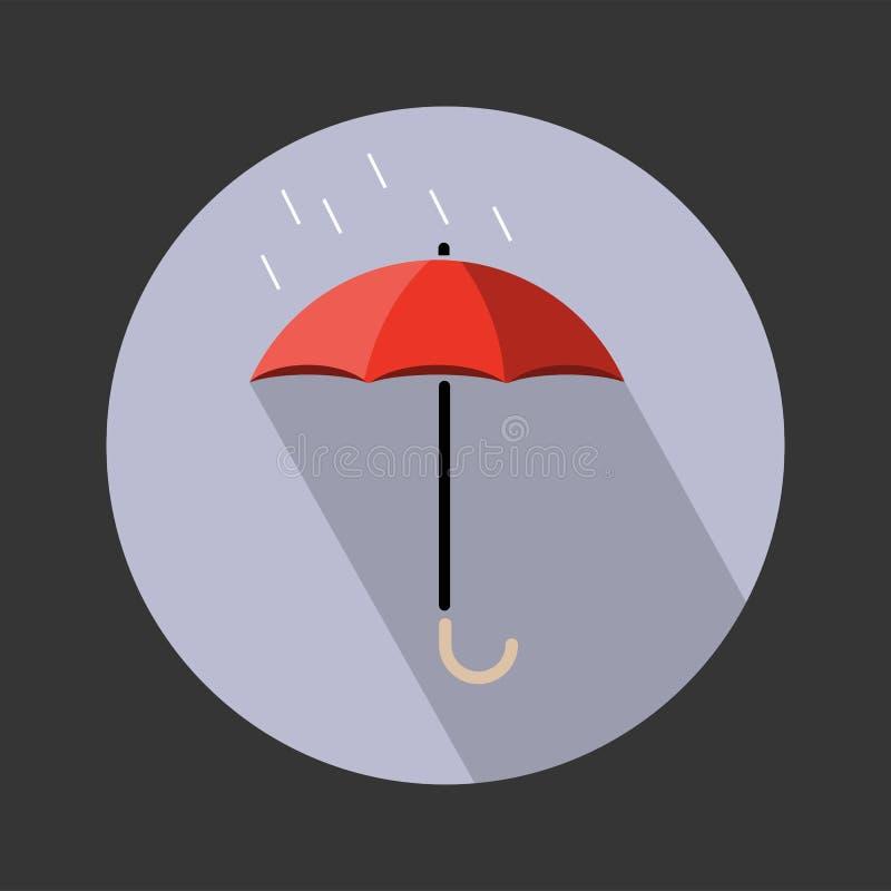 F?r f?rgvektor f?r paraply plan illustration f?r symbol stock illustrationer