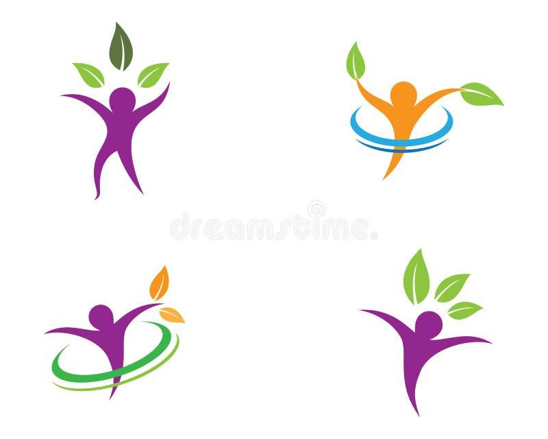 F?r symbolillustration f?r m?nsklig h?lsa design stock illustrationer